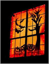 Halloween Lights Decorations by Halloween Window Decorations