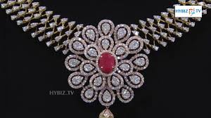 silver gold diamond necklace images Latest diamond necklace floral design malabar gold and diamonds jpg