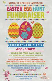 easter egg hunt fundraiser presented by westdale co op preschool