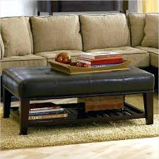 Leather Top Ottoman Leather Coffee Tables Coffee Tables Leather Square Faux Leather