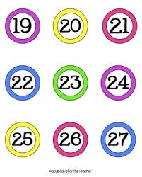 Flashcards Numbers 1 100 Number Cards Clipart 53