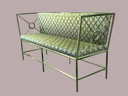 wrought iron sofa 3d asset cgtrader