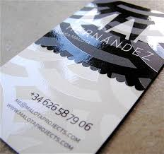 Premium Business Cards Embossed Spot Varnish Business Card Design Example 5 Types Of Printing