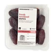 fresh dates fruit fresh medjool dates 200g woolworths co za