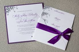 Silver Wedding Invitations Elegant Purple And Silver Wedding Invitations Digitalrabie Com