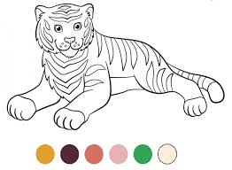 coloriage tigre à imprimer