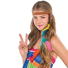 hippy headbands groovy 60 s party hippie headband accessory fabric