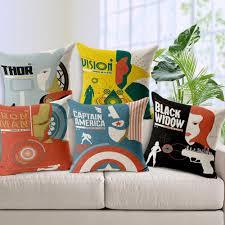 avengers home decor 2015 personalized pillow cover avengers 2 aochuang era pattern