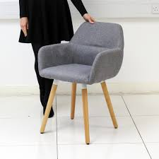 Grey Fabric Dining Room Chairs Fabric Dining Chair Armchair Dining Room Living Room Armrest