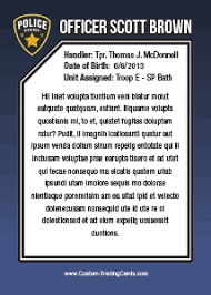 enforcement template custom trading cards