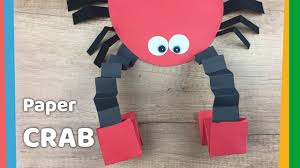how to make paper crab with moving pincers easy and fun craft