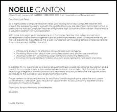 ideas of cover letter sample for computer teacher also format
