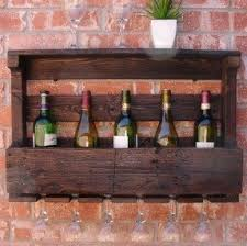 wall mounted wine rack and glass holder foter