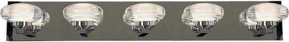 Chrome Bathroom Vanity Lighting Access 63975ledd Ch Acr Optix Contemporary Chrome White Acrylic