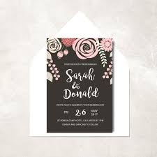 wedding invitations floral floral wedding invitation botanic wedding invitation pink