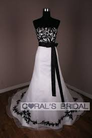 white and black wedding dresses wd10128 f black and white wedding dress