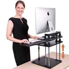 uptrak dual level standing desk adjustable stand up desk xl