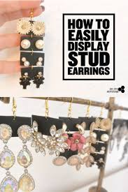 make stud earrings how to easily display stud earrings using polymer clay the tiny