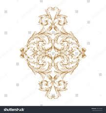 premium gold vintage baroque frame scroll stock vector 407316568