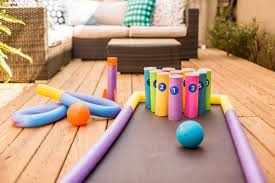 diy backyard bowling for kids hgtv