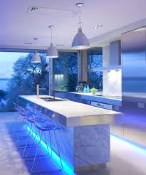 Modern Kitchen Lights Kitchen Fantastic Blue Lighting Kitchen Decor With Rectangle