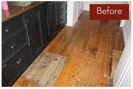 Wood Floor Paint Ideas Wood Floor Makeover Paint Or Not Curbly Concrete Basement Floor Ideas