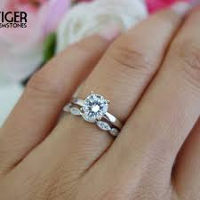 Promise Engagement And Wedding Ring Set by Sale 1 Carat Art Deco Round Solitaire Wedding Set Man Made