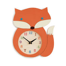 fox clock wood clock handmade fox décor uncommongoods
