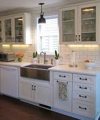 Kitchen Sink Lighting Joyce S Black White Kitchen Black Appliances Wood And