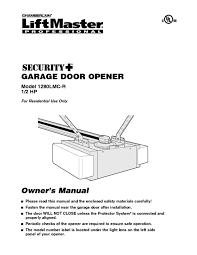 Chamberlain Garage Door Opener Instruction Manual by Garage Door Opener Users Guides