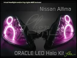 pink nissan altima oracle 10 12 nissan altima 4dr led colorshift halo rings