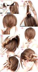 daily hairstyles for medium hair everyday fancy loop ponytail