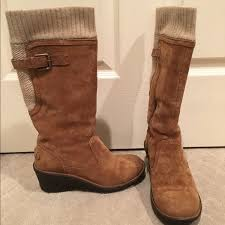 s pink ugg boots sale 60 ugg shoes ugg skyfall sweater cuff wedge boots from