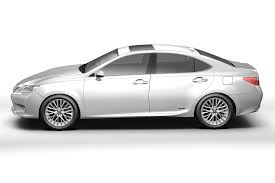 lexus sedan models 2013 lexus es300h 2013 3d model cgtrader