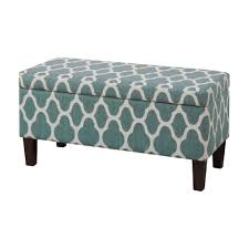 Upholstering An Ottoman Homepop Upholstered Decorative Storage Ottoman Teal