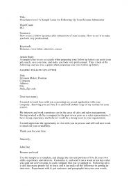 brilliant ideas of follow up resume email sample with free
