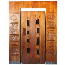 mid century modern baseboard vintage american edgar britton mid century modern walnut door and