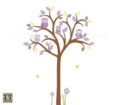Owl Nursery Wall Decals by Owl Tree Wall Decal Owl Tree Wall Sticker Owl Nursery Wall