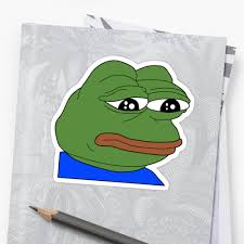 Meme Print - rare sad pepe frog meme print stickers by budgetnudest redbubble