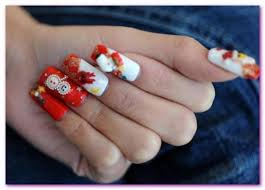 christmas nails art design hd pics images pictures 2015 for girls
