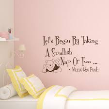 wall decal quote winnie pooh decal let u0027s begin by