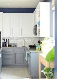 blue bottom and white top kitchen cabinets pin by chelsea matthew on for the home decor kitchen