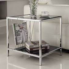 Glass End Tables For Living Room Steel End Tables Foter
