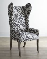 Zebra Dining Room Chairs by Kayla Zebra Print Wingback Chair At Neiman Marcus Master Chairs