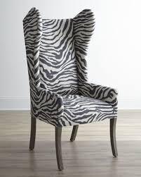 Animal Print Desk Chair Kayla Zebra Print Wingback Chair Wingback Chairs Zebra Print