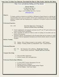 Resume Samples Higher Education Administration by Free Resume Templates Formatted Format Examples Job Intended For