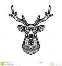 ornamental deer trendy ethnic zentangle design
