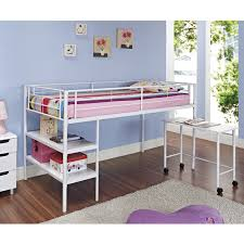 Small Bedroom Bed And Desk Rustic Cherry Wooden Loft Bunk Bed With Study Desk Using Striped