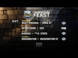 fox college football thanksgiving feast