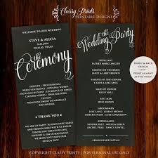 Chalkboard Wedding Program Wedding Programs Posh Pixel Designs Online Store Powered By